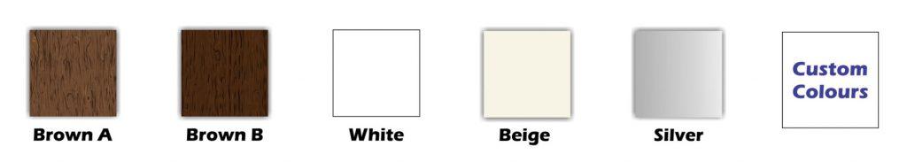 Aluminium Slat Fence Colours