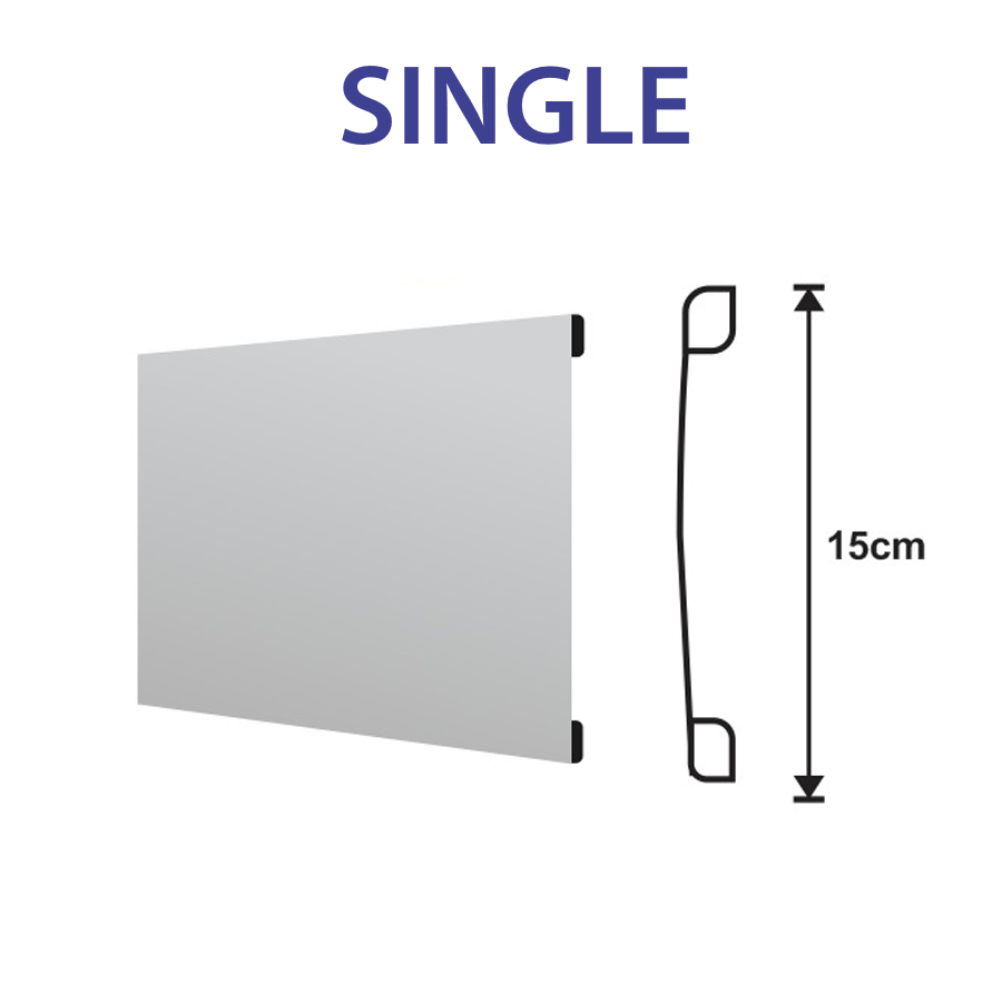 Single Slat White Aluminium Fence