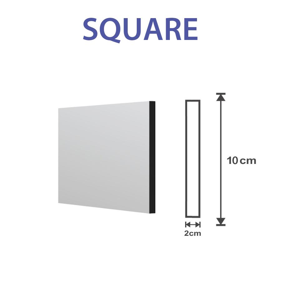 Square slat fence